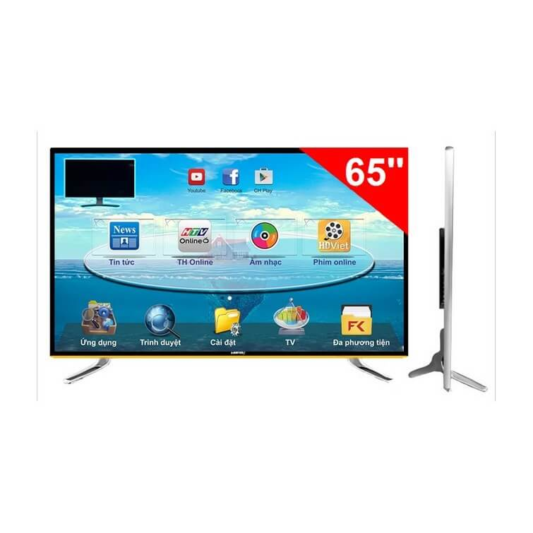 Smart TV ASANZO 65SK900 65 inch cường lực