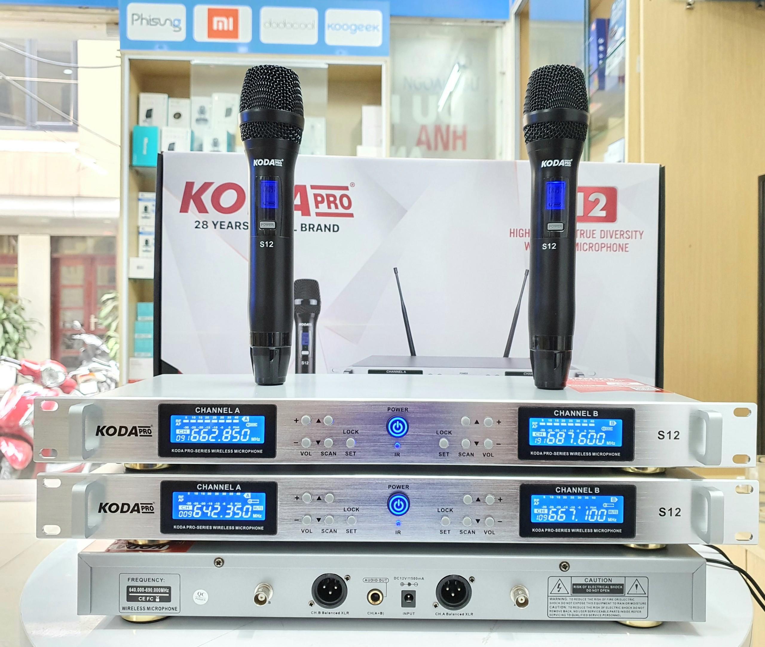 micro không dây cao cấp KODA S12 pro
