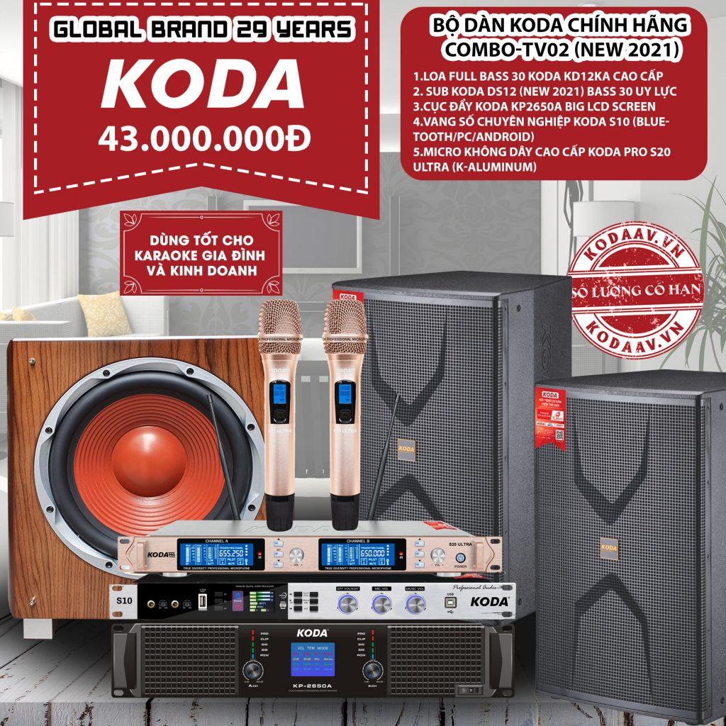 Bộ dàn KODA chính hãng Combo-TV02 New 2021