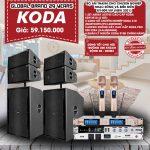 Bộ âm thanh chuyên nghiệp cho nhạc sống và biểu diễn KV-009 VIP New 2021