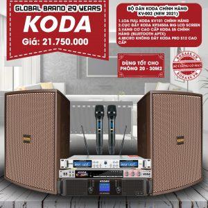 Bộ dàn KODA chính hãng KV-002 New 2021