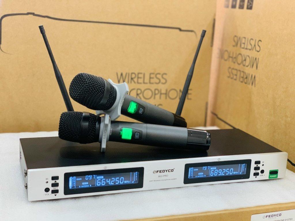 Micro không dây Fedyco 802 Pro - Chuyên dùng cho Karaoke - Bảo hành 24 tháng chính hãng
