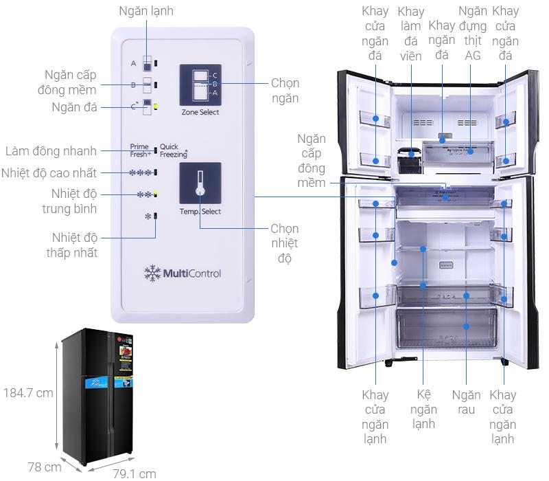 Tủ lạnh Panasonic Inverter 550 lít