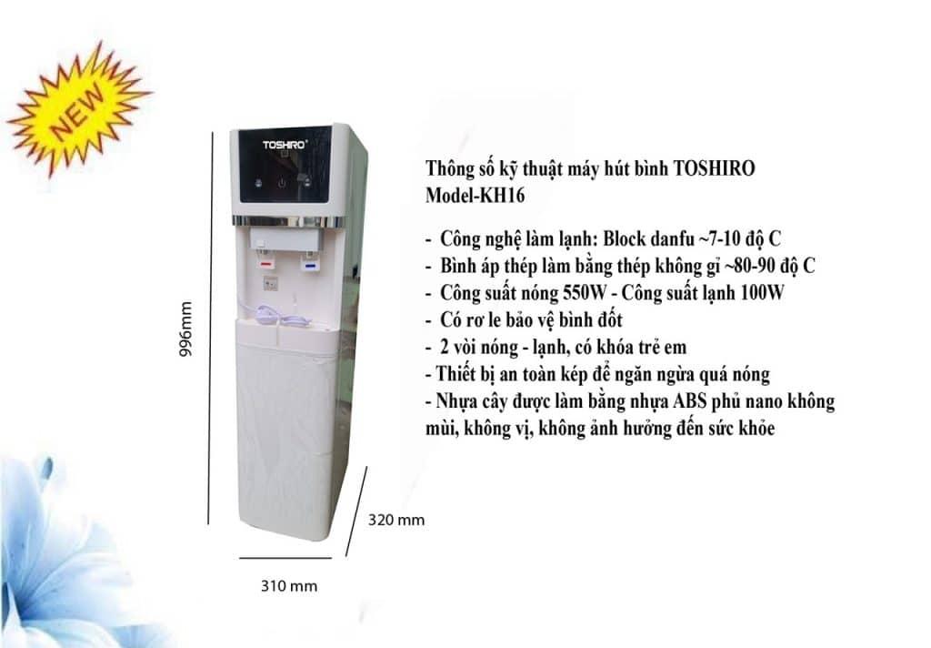 Cây nóng lạnh hút bình Toshiro KH16