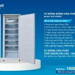 Tủ đông đứng Hòa Phát HUF-450SR1 208 lít 7 ngăn
